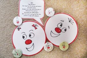 Comic relief badges from 1991
