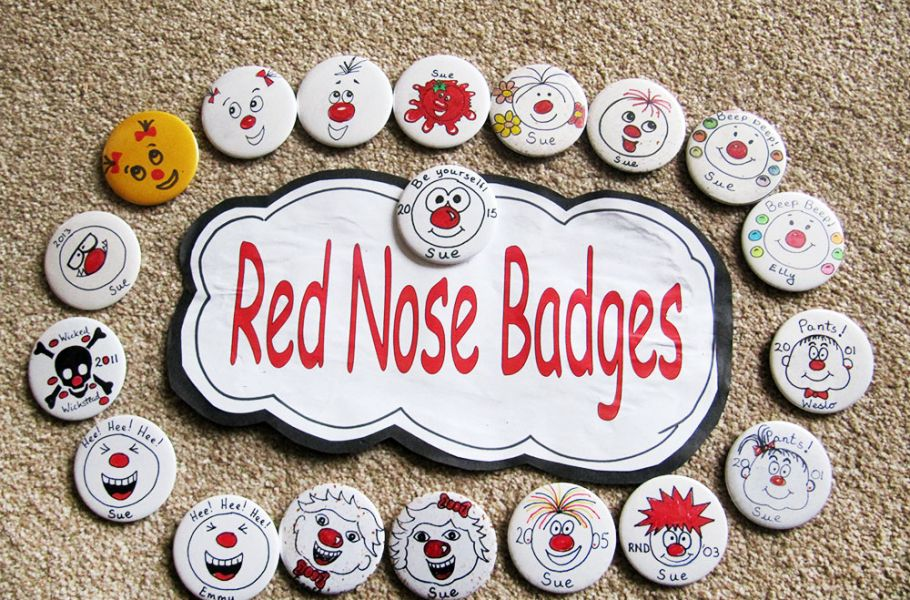 Comic Relief badges