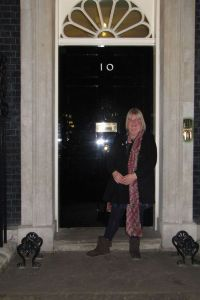 Outside No.10 Downing Street