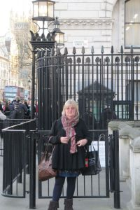 Sue Wickstead in Downing Street London