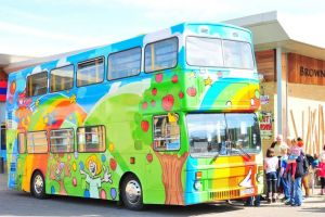 A colourful bus
