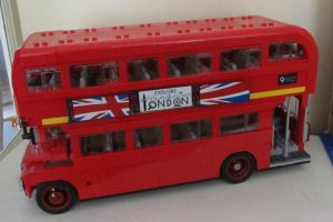 Red Lego Bus