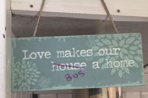 Love makes our bus a home!